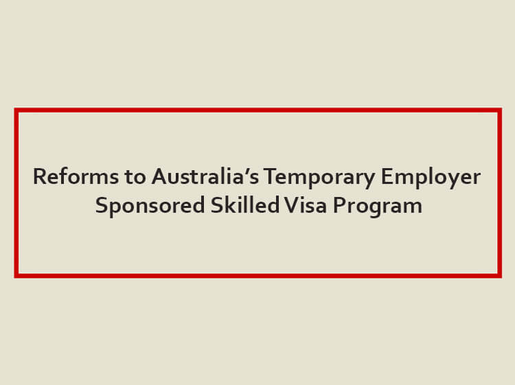 EMPLOYER SPONSORED REFORMS – MARCH IS COMING