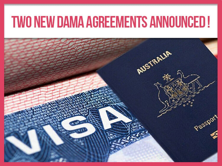Two NEW DAMA Agreements Announced!