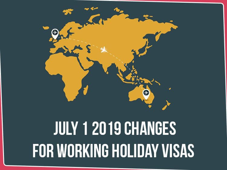 July 1 2019 Changes for Working Holiday Visas